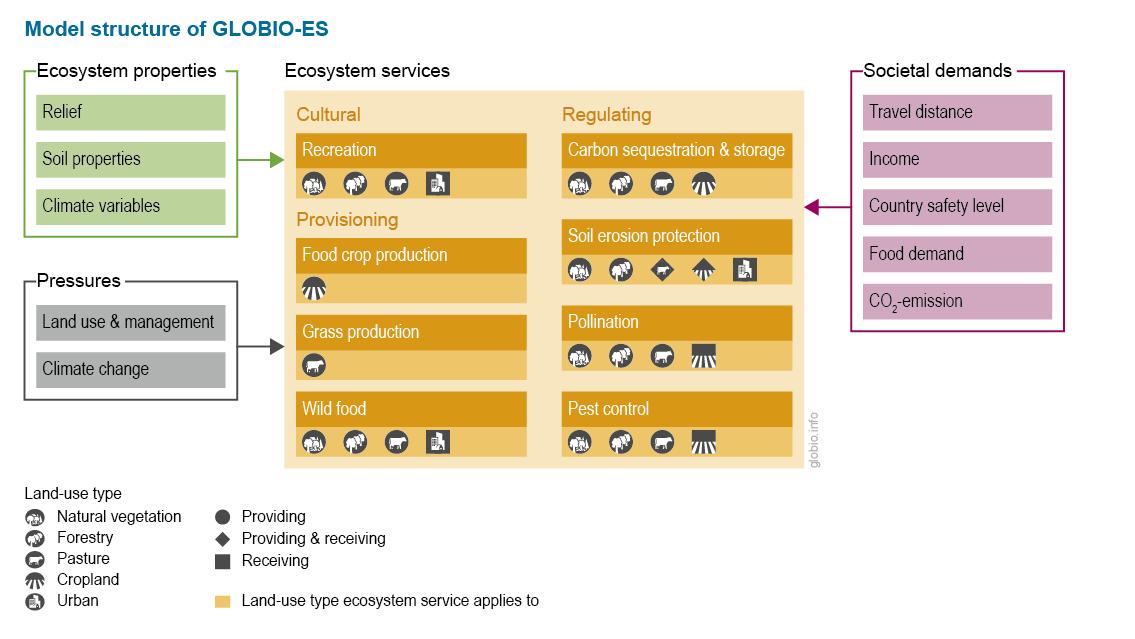 Schematic presentation of the GLOBIO-ES model